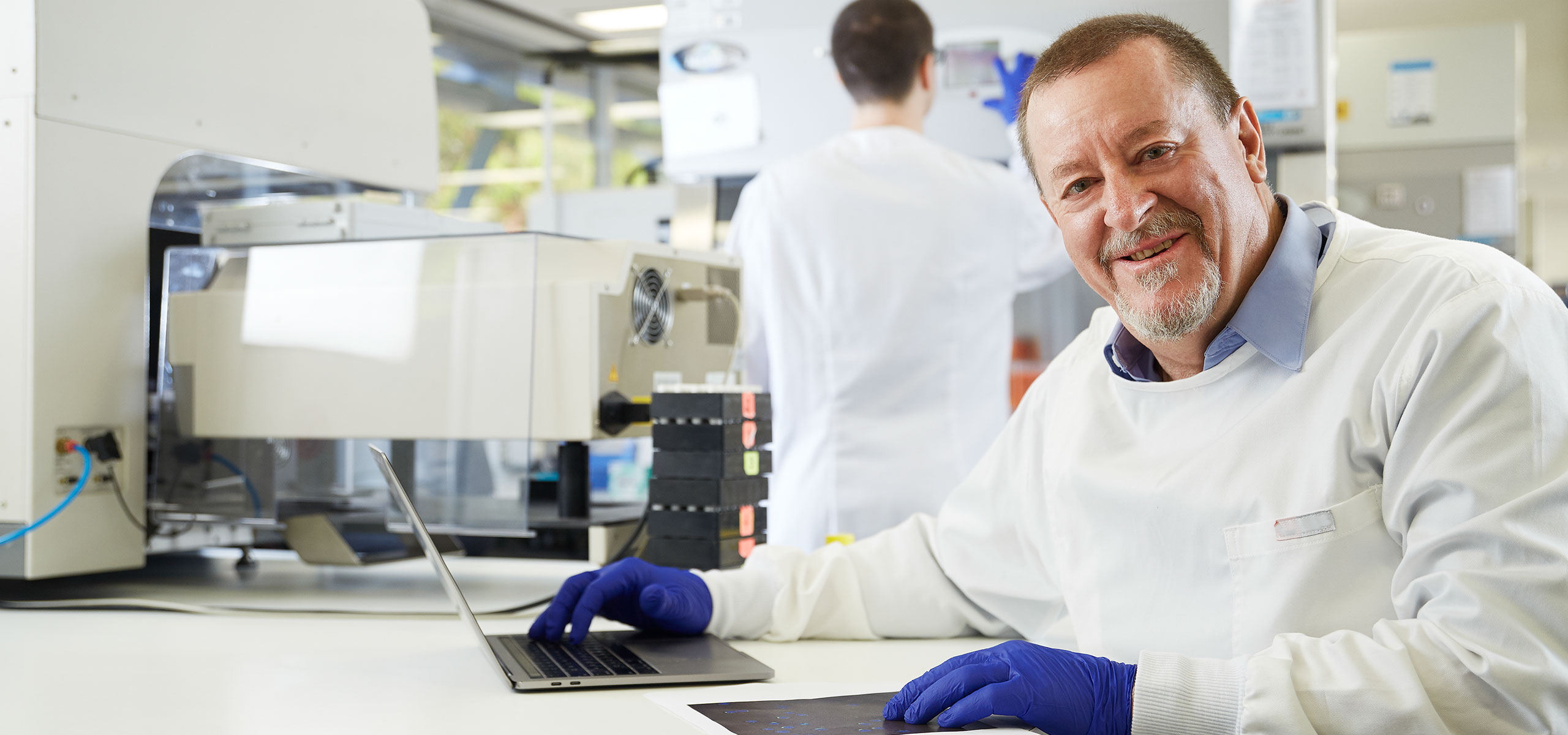 Prof. Steve Wilton, molecular therapy scientist, poses for camera