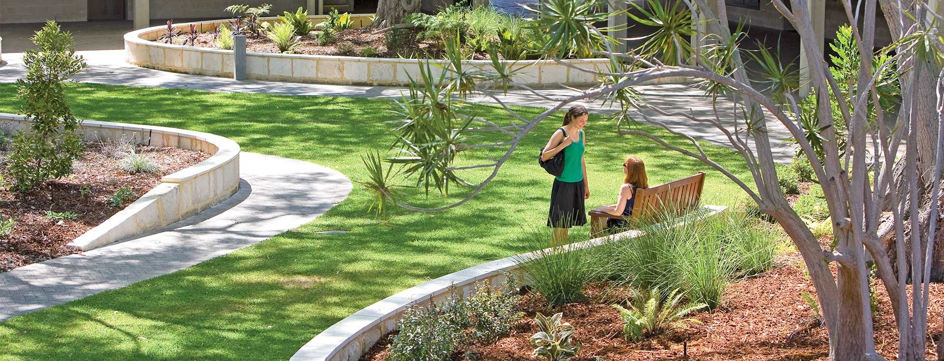 Image of two students talking