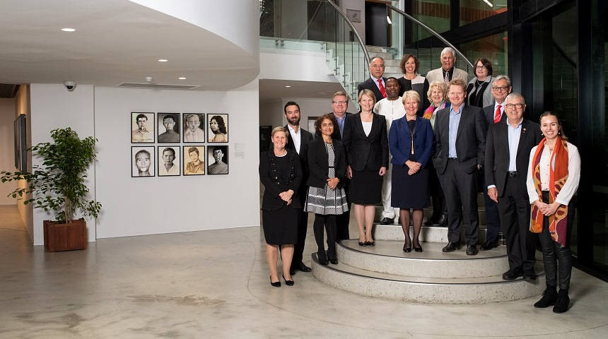 Murdoch University's new Vice Chancellor's External Advisory Board met for the first time at the Murdoch Art Gallery.