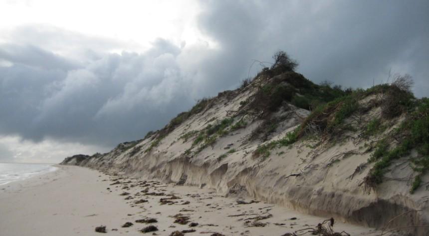 Coastal erosion at Jurien Bay