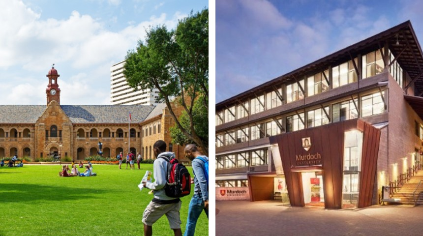 University Pretoria campus and Murdoch University chancellery building