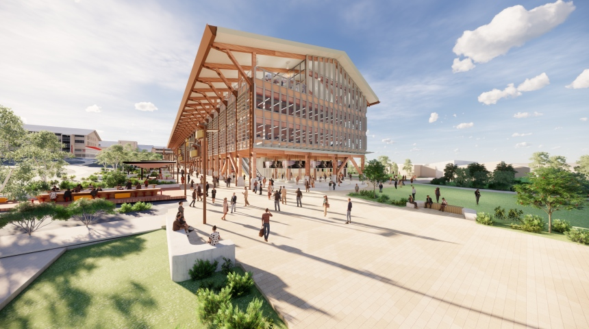 An artist's impression of the new academic building