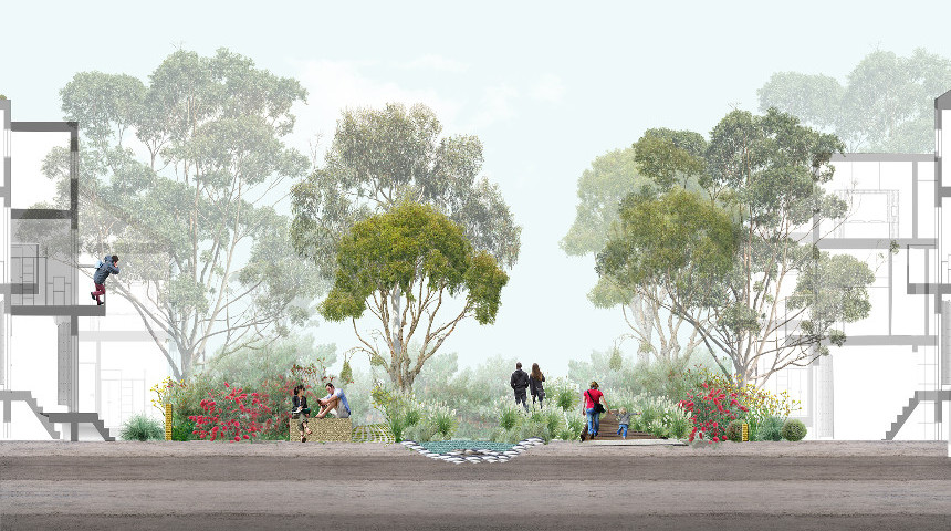 Nature sensitive urban design. Image - Zoe Myers, Australian Urban Design Research Centre, UWA