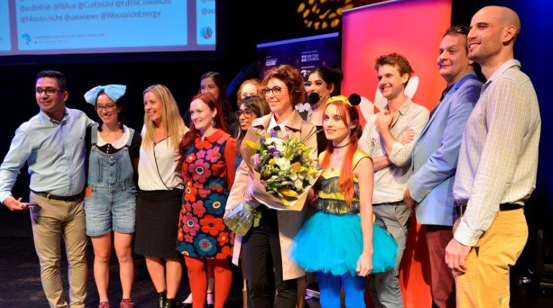 Paola Magni with the other FameLab finalists