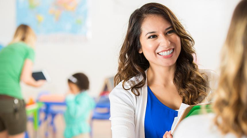 Teacher meeting parent