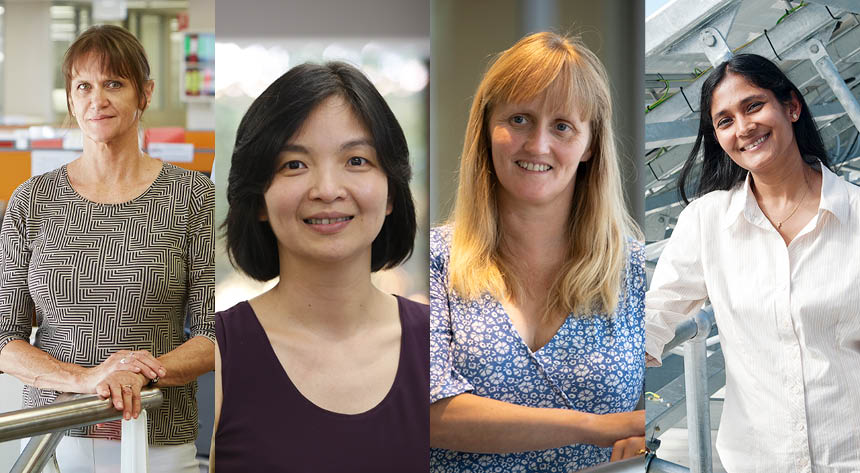Composite image of female researchers