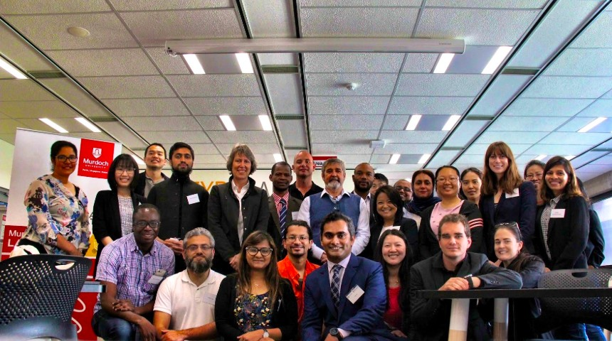 Attendees at the science diplomacy workshop