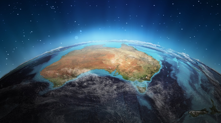 image of Australia from space