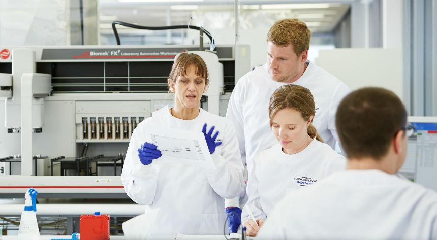 Sue Fletcher explains research to team
