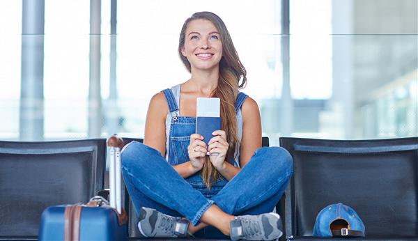 Image of girl with passport