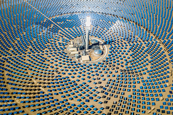Image of a solar tower