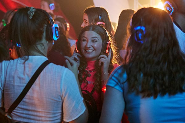 High school students having fun at Sound On Festival